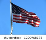 national flag of america on a... | Shutterstock . vector #1200968176