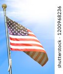 national flag of america on a... | Shutterstock . vector #1200968236