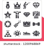 collection of 16 luxury filled... | Shutterstock .eps vector #1200968869