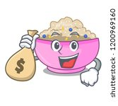 with money bag character a bowl ... | Shutterstock .eps vector #1200969160