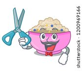 barber character a bowl of... | Shutterstock .eps vector #1200969166