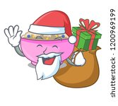 santa with gift cooked whole... | Shutterstock .eps vector #1200969199