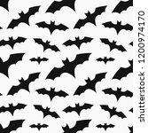 bats colony seamless pattern.... | Shutterstock .eps vector #1200974170