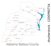 detailed map of barbour county... | Shutterstock .eps vector #1200980716