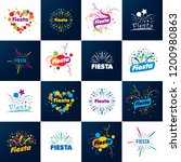 abstract logo for the fiesta.... | Shutterstock .eps vector #1200980863