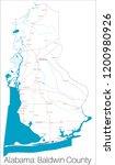 detailed map of baldwin county... | Shutterstock .eps vector #1200980926