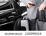 traveling businessman with his... | Shutterstock . vector #120098314