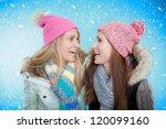 friends women celebrating... | Shutterstock . vector #120099160