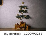 handmade christmas tree hanging ... | Shutterstock . vector #1200993256
