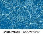 blue and white vector city map... | Shutterstock .eps vector #1200994840