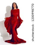 tender woman in the red... | Shutterstock . vector #1200998770
