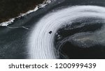 aerial bird view picture of ice ... | Shutterstock . vector #1200999439