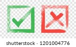 tick and cross sign elements.... | Shutterstock .eps vector #1201004776