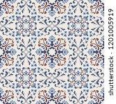 seamless damask pattern.... | Shutterstock .eps vector #1201005919