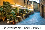 typical italian sidewalk... | Shutterstock . vector #1201014073