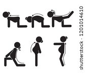 pregnancy stretches icon yoga... | Shutterstock .eps vector #1201014610