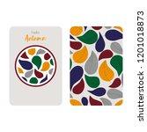 leafy seamless pattern  menu...   Shutterstock .eps vector #1201018873