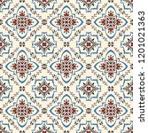talavera pattern.  azulejos... | Shutterstock .eps vector #1201021363