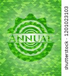 annual realistic green emblem.... | Shutterstock .eps vector #1201023103
