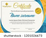 certificate  template with... | Shutterstock .eps vector #1201026673