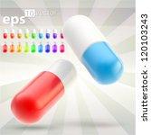 vector medicine pills  high... | Shutterstock .eps vector #120103243