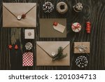 christmas package. christmas... | Shutterstock . vector #1201034713