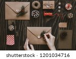 christmas handmade cards and... | Shutterstock . vector #1201034716