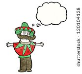 cartoon man in mexican costume | Shutterstock .eps vector #120104128