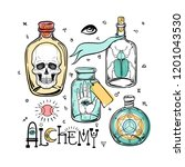 alchemy symbol icon set.... | Shutterstock .eps vector #1201043530