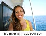 selfie photo of young model... | Shutterstock . vector #1201046629