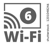 wi fi 6 generation button...   Shutterstock .eps vector #1201048246