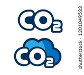 co2 logo design.co2 icon... | Shutterstock .eps vector #1201049533