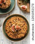 tarte on sand base with fresh... | Shutterstock . vector #1201052173