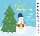 merry christmas and happy new... | Shutterstock .eps vector #1201052299