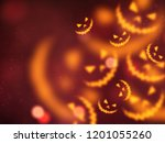 happy halloween background | Shutterstock . vector #1201055260