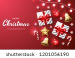 merry christmas background with ... | Shutterstock .eps vector #1201056190