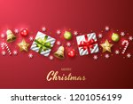 merry christmas background with ... | Shutterstock .eps vector #1201056199