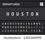 mechanical airport flip board... | Shutterstock .eps vector #1201060990