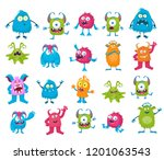monsters set vector | Shutterstock .eps vector #1201063543