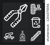 set of 6 metal outline icons... | Shutterstock .eps vector #1201070056