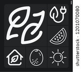 set of 6 nature outline icons... | Shutterstock .eps vector #1201070080