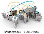 social network human 3d on...   Shutterstock . vector #120107053