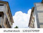 blue sky outdoor trees... | Shutterstock . vector #1201070989