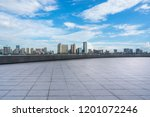 empty square with city skyline  ... | Shutterstock . vector #1201072246