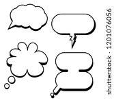 cartoon classic speech bubbles...   Shutterstock .eps vector #1201076056