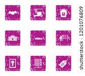 seo manner icons set. grunge...