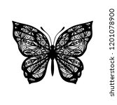 butterfly with patterned wings. ... | Shutterstock .eps vector #1201078900