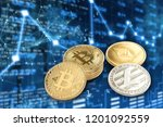 four types of cryptocurrency.... | Shutterstock . vector #1201092559