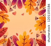 colorful autumn flat style... | Shutterstock .eps vector #1201105186