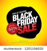 black friday sale banner layout ... | Shutterstock .eps vector #1201106020